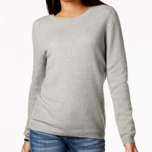 Charter Club Cashmere Pullover Sweater Cropped